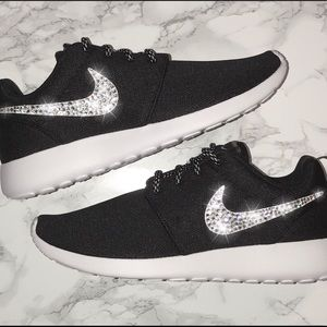 Bling Swarovski Crystal Black Nike Roshe